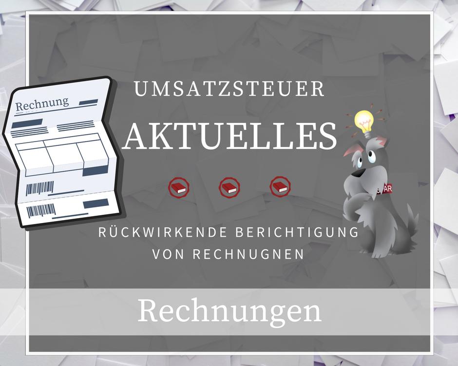 Umsatzsteuer - Berichtigung - Rechnung - EuGH