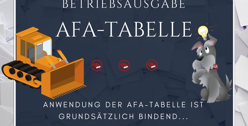 Buchhalterseele AfA-Tabelle Abschreibung