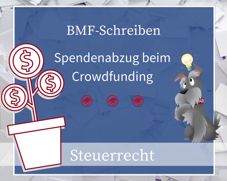 Buchhalterseele Spendenabzug Crowdfunding