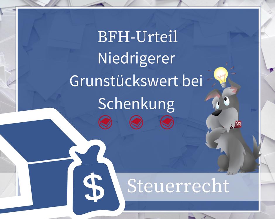 Buchhalterseele Steuerrecht Schenkung Grundstückswert