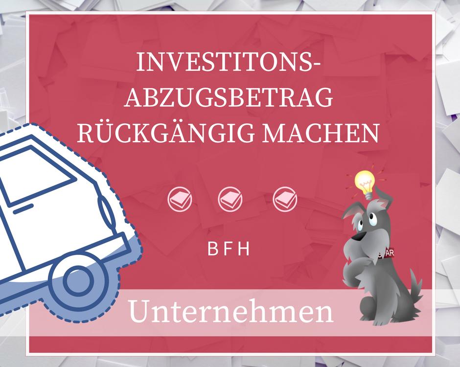 Buchhalterseele Unternehmen Investitionsabzugsbetrag