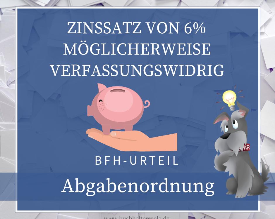 Buchhalterseele Abgabenordnung Zinssatz Nachzahlungszinsen