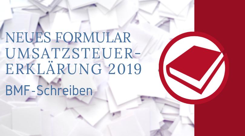 Buchhalterseele Blog Nachrichten Muster Umsatzsteuererklärung 2019