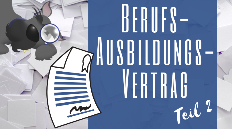 Buchhalterseele Blog Berufsausbildungsvertrag Teil 2