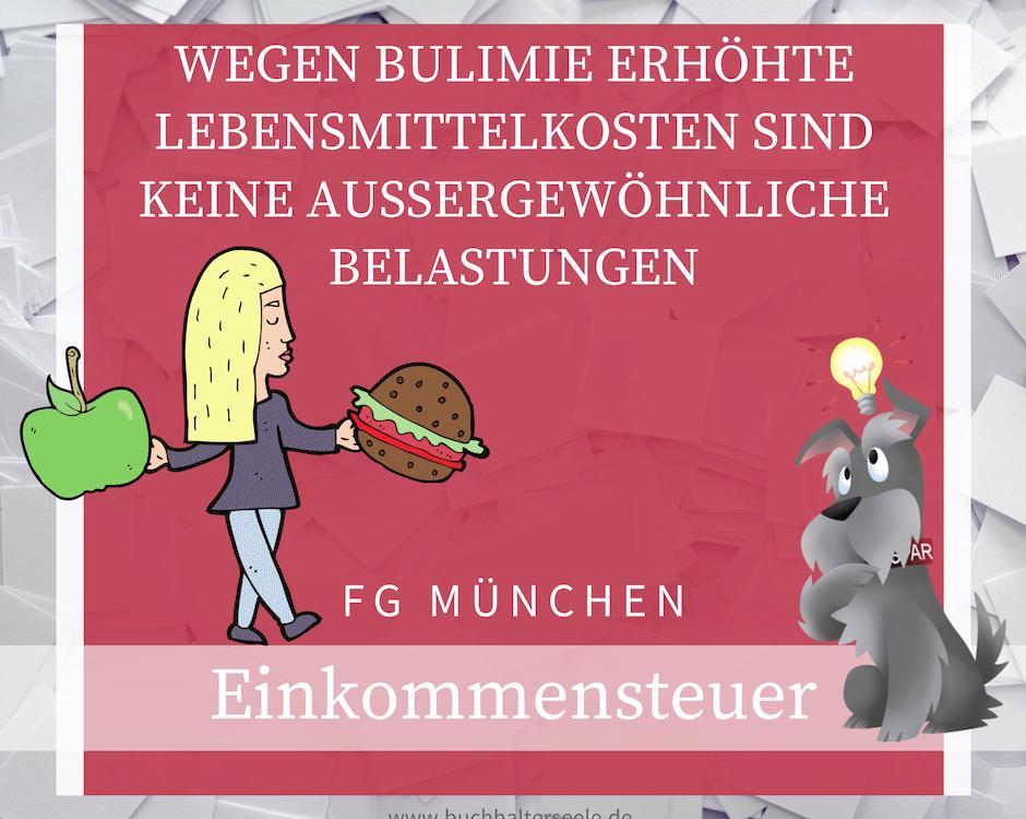 Buchhalterseele Einkommensteuer Erhöhte Lebensmittelkosten Bei Bulimie Keine AgB