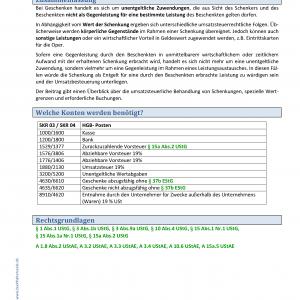 BHS Kontierungslexikon Geschenke KB Seite 1