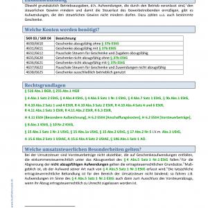 BHS Kontierungslexikon Geschenke Nichtarbeitnehmer KB Seite 1