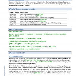 BHS Kontierungslexikon Geschenke Pauschale Besteuerung KB Seite 1